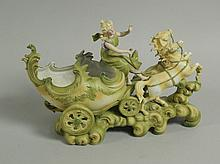 A late 19thC German porcelain centrepiece, in the