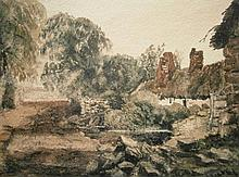 Peter De Wint (1784-1849). Bidston, watercolour,