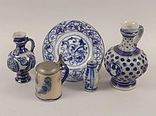 A group of 19thC and later German stoneware, to