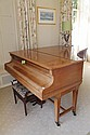 A Bechstein walnut cased budoir grand piano,