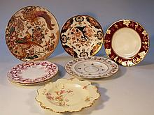 A quantity of Royal Crown Derby cabinet plates, to include an Olde Avesbury polychrome decorated pla