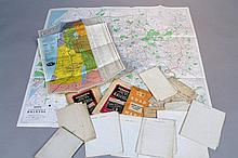 A quantity of various 19th Century and later maps, to include folding examples, a Pilgrim's Map Of T