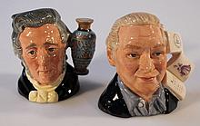 Two Royal Doulton character jugs, comprising Sir Henry Doulton D6703, and The Figure Collector D7156