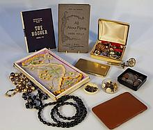 A quantity of costume jewellery and coins, to include various pre decimal examples, a gold coloured