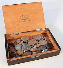 A quantity of early 20th Century and later GB and world coins, to include various pennies, Royal Com