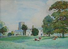 Edwin Marsh (20th Century). Rural landscape, watercolour, signed, 28.5cm x 39.5cm.