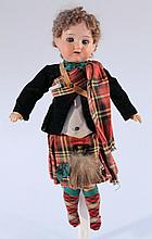 A late19th Century/early 20th Century Armand Marseille 390 276/1 bisque headed doll, with blink eyes