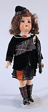 A 19th Century Heubach-Kopplesdorf bisque headed doll, with blink eyes, open mouth, original hair, i