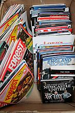 Various Nottingham Forest football programmes, mainly 80's and 90's, to include cup finals, FA Cup 9