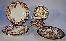 A quantity of Royal Crown Derby plates, to include a pair of Imari style examples, each of circular