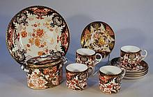 A quantity of Royal Crown Derby and Derby style tea ware, to include two handled sugar bowl, 11cm hi