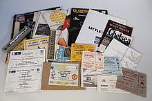 A quantity of football related ephemera, to include Panini's football sticker album 1987, FA Cup Fin