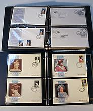 Various first day covers, to include, Royal Family, Coins and Stamps of the World, The Gambia $190 P