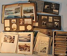 A quantity of loose postcards, photographs and ephemera. (a quantity)