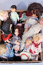 A quantity of early 20thC and later mainly celluloid and other dolls