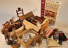 A quantity of various dolls house furniture and effects