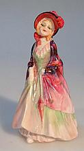 A Royal Doulton figure, The Paisley Shawl no 753120 small, 10cm high, printed marks beneath.