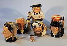 A quantity of Royal Doulton character jugs, comprising John Doulton D6656, signed to the base, 1980