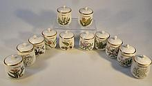 Various Royal Worcester Compton and Woodhouse spice jars, to include sage, nutmeg, turmeric, etc, 10