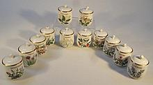 Various Royal Worcester Compton and Woodhouse spice jars, to include mixed spice, cloves, rosemary,
