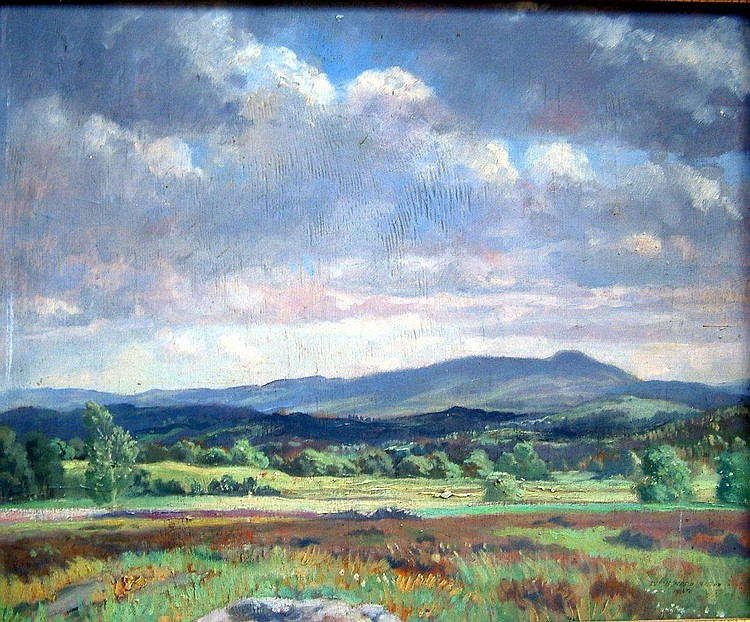 William Hartley Waddington (fl.1907-38) In Westmorland, 12.5 x 15.5 ins.