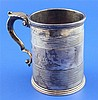 A Victorian silver mug by Charles Thomas Fox and George Fox, 12.5 oz.