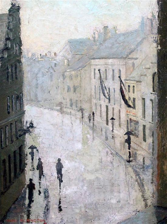 Mary Remington (1910-2003) French street scene, 16 x 12in.