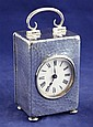 An Edwardian silver cased travelling timepiece,