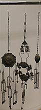 A group of Malaysian and Chinese Straits silver ceremonial and wedding ornaments, late 19th / early 20th century, 14cm.