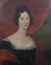 19th century English School Portrait of Miss Dorothea Prideaux-Brune, wife of Sir Joseph Graves-Searle (d.1853), 30 x 25in.