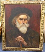 19th century French School Portrait of a bearded gentleman, 24 x 19in.