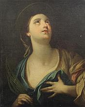19th century Italian School Portrait of a female saint, 29 x 24in.