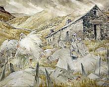 § Mildred Elsie Eldridge (1909-1991) Wool for Carding, North Wales, 18.5 x 23.5in.