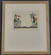Eric Gill (1882-1940) Daily Herald Order of Industrial Heroism 1923, 6.5 x 8.5in.