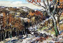James Kay (1858-1942) 'First Snows', 9.5 x 13.5in.