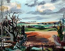 Attributed to Rowland Suddaby Early Spring, East Anglia, 16 x 19.5in.