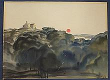 John Skelton (1923-1999) Summer evening near Mount Venus, Dublin, 20.5 x 27.5in., unframed
