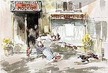 Roland Batchelor (1889-1990) 'The Thief', 6 x 9in.