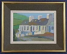 Margaret Gumuchian (Mrs Ian Grant) (1927-) Welsh Cottages, Uwchmynydd, 7 x 9.75in.