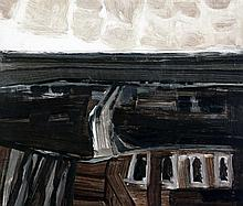 Terence Philip Flanagan (1929-) Bogland No.1, 10 x 11.57in., unframed