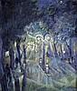 Herbert Gurschner (1901-1975) Austrian Street scene 19.5 x 16.5in.