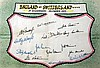 England football team signatures for England v Switzerland at Highbury 1948, 11.75 x 7.9in.