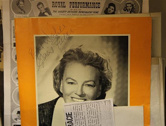 GRACIE FIELDS: A collection of greeting and Christmas cards and theatre / production programmes,