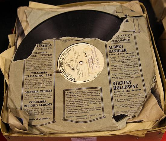 GRACIE FIELDS: A collection of twenty five early sample records and personal records 78's and acetates,