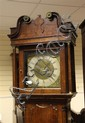 An 18th century oak eight day longcase clock,