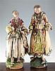 Two 19th century Neapolitan creche figures, largest 23in.