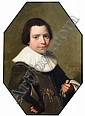 Johannes Cornelisz Verspronck (1597-1662) Dutch Half-length portrait of a young boy 18.5 x 13in., Jan Cornelisz Verspronck, Click for value