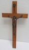 20th C. Bronze and wood crucifix