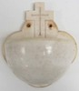 19th C. Marble hanging holy water bowl