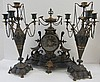 Rare Bronze Renaissance Am. 3 piece clock set